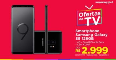 Samsung Galaxy S9 com 128GB, Tela Infinita de 5.8″, Dual Chip, Android 8.0, Câmera 12MP, 4GB RAM e Processador Octa-Core