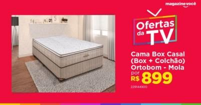 ATENÇÃOOO É SÓ HOJE!!!! Cama Box Casal (Box + Colchão) Ortobom Mola – 30cm de Altura Ortotech