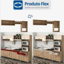 Cozinha Completa Flex sem Tampo Classic 10 Portas Fellicci Carvalho/Blanche