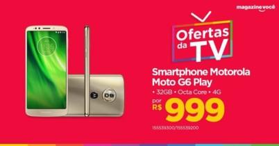 "Smartphone Motorola Moto G6 Play 32GB Ouro – Dual Chip 4G Câm 13MP + Selfie 8MP Flash Tela 5.7"""