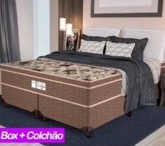 FRETE GRÁTIS Cama Box Queen Size (Box + Colchão) ProDormir – Colchões Mola 26cm de Altura Sensitive Fusion