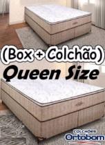 Frete Grátis quase todo#Magazine#ORTOBOM Cama Box Queen Size (Box + Colchão) Ortobom – Mola 30cm de Altura Ortotech