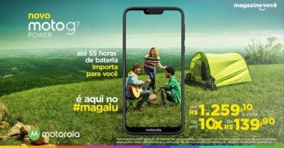 "Smartphone Motorola G7 Power 32GB Azul Navy 4G – 3GB RAM Tela 6,2"" Câm. 12MP + Câm. Selfie 8MP"