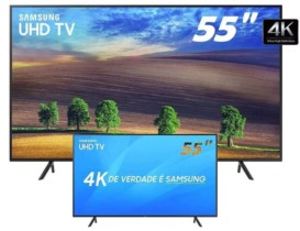 Smart TV LED 55″ Samsung Ultra HD 4k 55NU7100 com Conversor Digital 3 HDMI 2 USB Wi-Fi Solução Inteligente de Cabos HDR Premium Smart Tizen