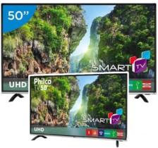 "Smart TV LED 50"" Philco 4K/Ultra HD PTV50F60SN – Conversor Digital Wi-Fi 3 HDMI 1 USB"