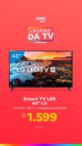 "Ofertas da TV.  Smart TV LED 43"" LG 43LK5750 Full HD Wi-Fi HDR – Inteligência Artificial Conversor Digital 2 HDMI"