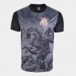 Camiseta Corinthians St. Jorge Masculina – Spr Preto+Chumbo – P