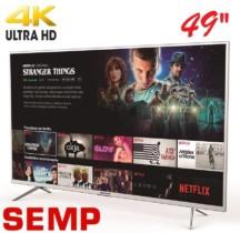 Smart TV LED 49 Polegadas Semp Toshiba 4K Wi-fi Full HD 3 HDMI 2 USB 49K1US
