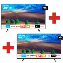 "Smart TV 4K LED 49"" Samsung NU7100 Wi-Fi HDR – Conversor Digital 3 HDMI 2 USB 2 Unidades"