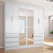 Guarda-roupa Casal 6 Portas 6 Gavetas Araplac – 217729-50 com Espelho