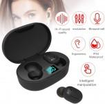 Sangmei Fones de ouvido E6S BT Fone de ouvido sem fio portátil TWS Fone de ouvido intra-auricular IPX4 à prova d'água Mini fone de ouvido esportivo com caixa de carga CV#