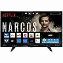 Smart TV LED 43″ FHD com WiFi 2 USB 3 HDMI Digital Controle com Botão Netflix, AOC, LE43S5970, Preto