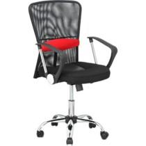 Cadeira Executiva NF-118 Preta c/ Vermelho – Classic Home