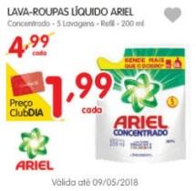 Sabão Líquido Ariel – Sachê de 200ml por R$ 1,99