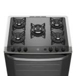 Fogão de Piso cor Prata com Mesa de Vidro e Tripla Chama Electrolux (76USV)