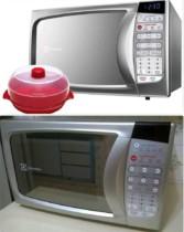 Micro-ondas Electrolux Vapor Silver MA30S 20L – com Panela a Vapor