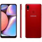 "Smartphone Samsung Galaxy A10s 32GB Vermelho – 4G 2GB RAM 6,2"" Câm. Dupla + Selfie 8MP"