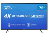 "Smart TV 4K LED 75"" Samsung UN75RU7100 Wi-Fi – HDR Conversor Digital 3 HDMI 2 USB"