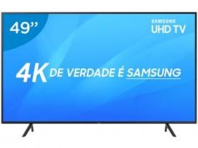 "Smart TV 4K LED 49"" Samsung NU7100 Wi-Fi HDR – Conversor Digital 3 HDMI 2 USB"