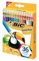 Lápis de Cor Evolution, BIC, 930230, Multicolor, pacote de 36
