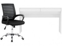Escrivaninha Lindóia 2 Gavetas – Politorno + Cadeira de Escritório Giratória