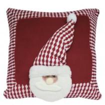 Almofada Papai Noel Xadrez 36cm Paris Niazitex Vermelho/Branco (cód. 629107100)