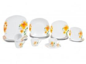 Aparelho de Jantar 20 Peças World Collection – Quadrado Colorido Porcelana Sissi (cód. 221053300)