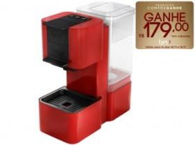 Cafeteira Expresso Três Corações S26 Pop – 15 Bar Vermelha e Preta 110V (cód. 023568800)