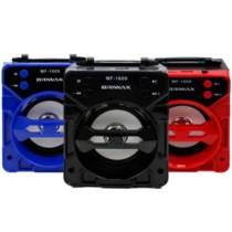 Caixa de Som Portátil Briwax 13cm MF-1609 Amplificada Bluetooth USB MP3 Rádio FM SD (cód. fgd9ef18ka)