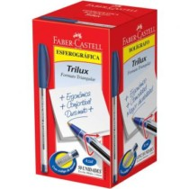 Caneta Esferográfica Trilux Azul 1.0mm c/50 unidades – Faber-castell (cód. 717956900)