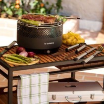 Churrasqueira Portátil à Carvão Compact Preta – La Cuisine (Cód.133850834)