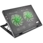 Cooler Para Notebook Warrior Power Gamer Led Verde Luminoso – AC267