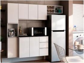 Cozinha Completa Poliman Móveis Laura – com Balcão 8 Portas 2 Gavetas (cód. 220660500)