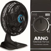 Ventilador Silence Force 40CM – Repelente Líquido Arno Preto 110V – VF55