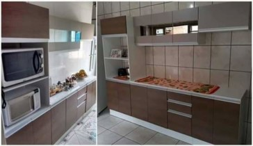 Cozinha Compacta Madesa Smart G20073097G – com Balcão 12 Portas 2 Gavetas 100% MDF