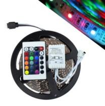 Fita de Led 5 metros Natal Luz Colorido Rgb Com Controle Wireless 127v (Abm / JA80513) (cód. 557057300)