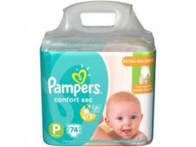 Fraldas Pampers Confort Sec Tam. P 74 Unidades – Extra Sec Pods P (cód. 220258600)