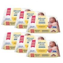 Kit Toalhas Umedecidas Johnsons Baby Recém-Nascido 6 pacotes com 96 unidades cada – Johnsons baby (cód. kbce4j7cee)