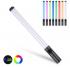 Vara clara colorida handheld da fotografia do diodo emissor de luz da varinha clara do rgb bi-color 3000k-6500k com efeitos de iluminação múltiplos para o fluxo vivo