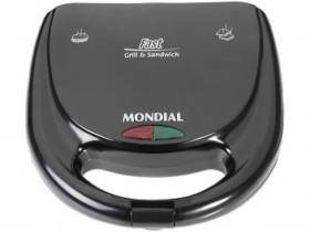 Sanduicheira/Grill Mondial Fast Grill e Sandwich – S-12 780W com Alça Fria 220V (cód. 086245800)