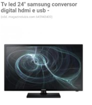 Tv led 24″ samsung conversor digital hdmi e usb