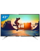 Smart TV LED 43″ Philips 4K/Ultra HD 43PUG6102/78 – Conversor Digital Wi-Fi 4 HDMI 2 USB DTVi Bivolt – 43″