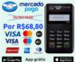 Maquininha de cartão MERCADO PAGO R$68,80
