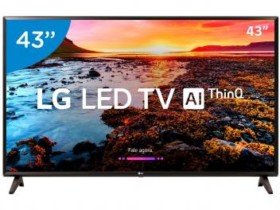"Smart TV 4K LED 43"" LG 43UK6520 Wi-Fi HDR – Inteligência Artificial Conversor Digital 4 HDMI (cód. 193418200)"
