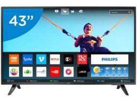 """Smart TV LED 43"""" Philips Full HD 43PFG5813/78 – Conversor Digital Wi-Fi 2 HDMI 2 USB (cód. 193419800)"""