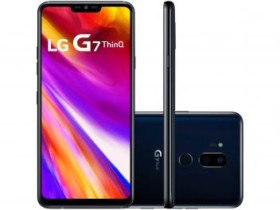 "Smartphone LG G7 ThinQ 64GB Preto Dual Chip 4G – Câm. 16MP e 16MP + Selfie 8MP Tela 6,1"" Quad HD (cód. 221210800)"