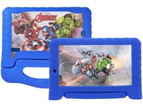 "Tablet Multilaser Disney Avengers Plus 8GB 7"" – Wi-Fi Android 7.0 Proc Quad Core Câmera Integrada Azul (cód. 218832900)"