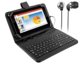 "Tablet Multilaser M7S Plus com Teclado 8GB 7"" – Wi-Fi Android 7.0 Quad Core com Câmera Integrada (cód. 135237700)"