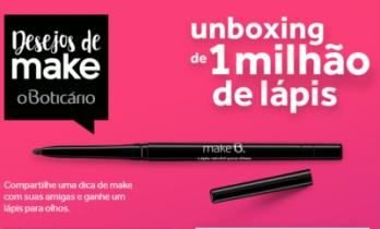 Unboxing de 1 Milhão de Lápis Make B. – Boticario
