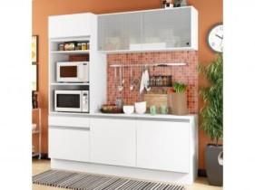 Cozinha Compacta Madesa Ametista G20086 com Balcão – Nicho para Forno ou Micro-ondas 6 Portas 1 Gaveta